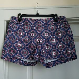 NWT J. Crew Factory Printed Stretch Chino Shorts 8